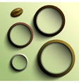 Coffee abstract circles olive theme vector
