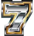 Fancy font number 7 vector