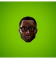With an african male face in polygonal style vector