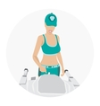 Sport woman - fitness vector