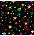 Black seamless pattern with stars vector