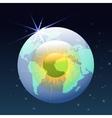 Eyeball globe in space vector