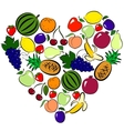 Fruits heart vector