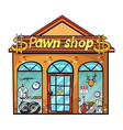 Pawnshop on a white background vector