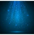 Blue shining magic light background vector