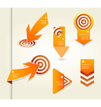 Set of orange labels for wide variety of use vector