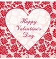 Seamless pattern with heart frame vector