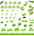 Collection of eco elements vector