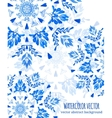 Abstract floral ornamental border vector