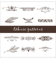 Set of different ethnic doodle patterns vector