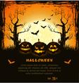 Orange grungy halloween background vector