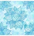 Vintage ornate blue flowers vector