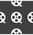 Film web icon flat design seamless pattern vector