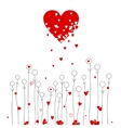 Love and flowers vector