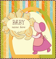 Baby girl invitation card vector