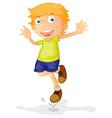 Active young boy vector