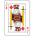 Jack of diamonds vector