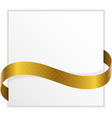 Winner note with golden ribbon vector