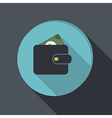 Paper flat icon purse vector