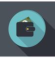 Paper flat icon purse vector