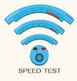Speed internet test wifi vector