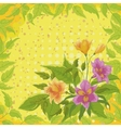 Flowers alstroemeria and leafs vector