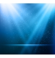 Abstract magic blue light background vector