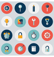 Flat circle business icon set vector