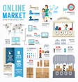 Ecommerce online template design infographic vector