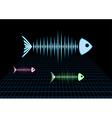 Sonar fishes vector
