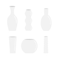 Vase icon set ceramic pottery glass flower vector