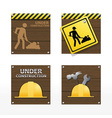 Beware traffic sign on wood background vector
