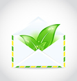 Summer letter with green leaves vector