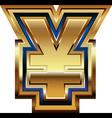 Golden yen symbol vector