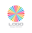 Colorful bright rainbow circle logo vector