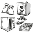 Safes drawings vector