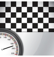 Checkered flag with metal frame vector