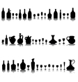 Glasses and bottles of wine vector
