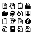 Documents and folders icons set vector