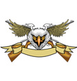 Eagle and rifles vector