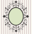 Black floral frame vector