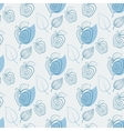 Seamless pattern with appleapplewhiteleaf vector