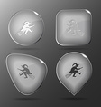 Witch glass buttons vector