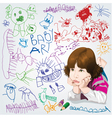 Childrens drawings vector
