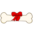 Dog bone gift vector