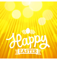 Easter background rays orange vector