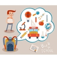 Bubble with education icons on gray backgrounds vector