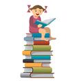 Little girl reader vector