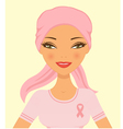 Breast cancer woman vector