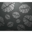 Lipstick kiss in black seamless pattern vector